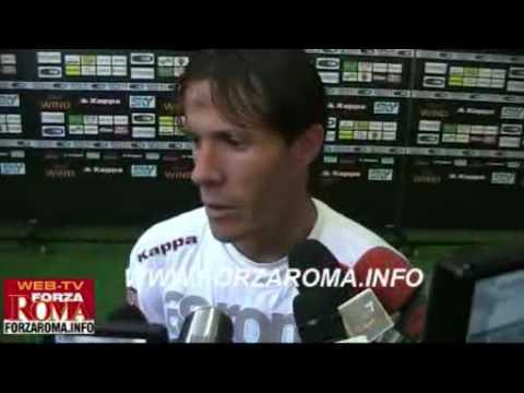 Rodrigo Taddei dopo Roma-Fiorentina del 20/09/2009