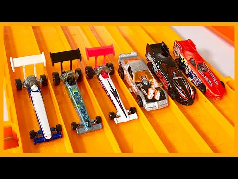 Top Fuel Dragsters vs Funny Cars Tournament!!!  - Hot Wheels