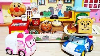 Baby doll Robocar poli shopping bakery Bread toys play