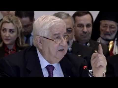 Syrian Foreign Minister's Testy Exchange with UN Chief Ban Ki-moon