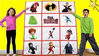 Giant Smash Surprise Toys Wall INCREDIBLES 2 vs HOTEL TRANSYLVANIA 3!
