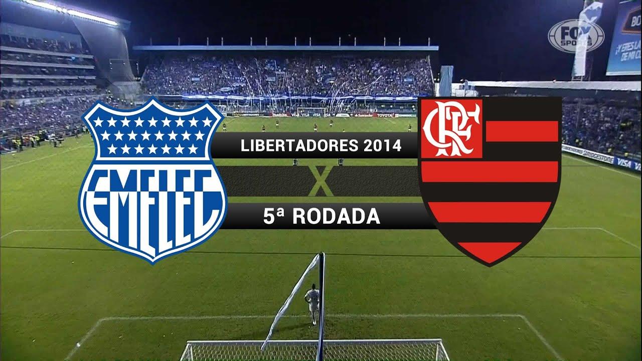 Gols - Emelec (EQU) 1 x 2 Flamengo - Libertadores 2014 ...