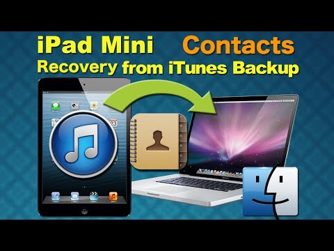 Restore contacts by EasyRecovery (Easy Reocvery Pro), Recover Deleted Contacts / Data from iPad Mini
