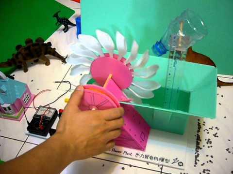 Model hydro electric power plant DIY - hydraulic electricity generator Adion