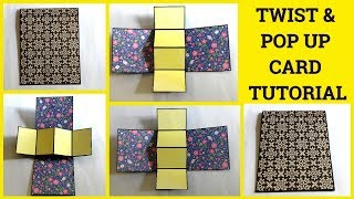 Twist & Pop Up Card Tutorial | Using Magnets | By Sangitaa Rawat | Anniversary Special