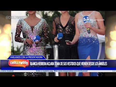 Blanca Herrera aclara tema de sus vestidos que vienen desde Los Ángeles