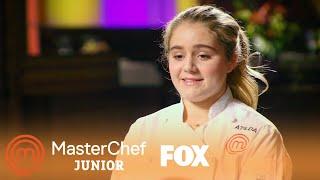Matilda Demonstrates How To Make A Cheese Filled Burger | Season 6 Ep. 7 | MASTERCHEF JUNIOR