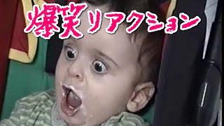 赤ちゃんのおもしろリアクションがたまらない