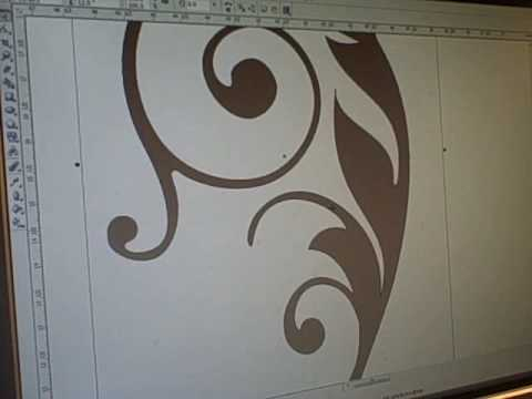 Etched Glass Vinyl Video Using Corel Draw X3 & SignCut - Etched Cabinet Glass