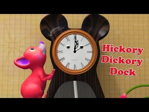 Hickory Dickory Dock Nursery Rhyme With Lyrics In 3d For Children video