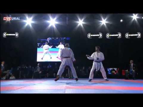 Hany Shaker Keshta (EGY) - Michail Georgios Tzanos (GRE) Final Karate1 Premier League, Tyumen 2013