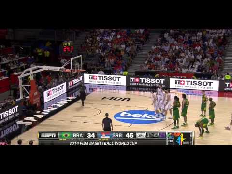 FIBA World Cup 2014 Quarterfinal Brazil vs Serbia HD