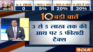 Top 10 Highlights of Union Budget 2017-18 Presented by Arun Jaitley