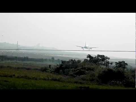 Indigo Airlines landing at Bhubaneshwar airport
