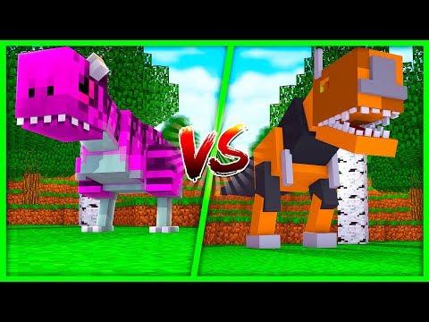 BOY VS GIRL LITTLE KELLY VS TINY TURTLE DINO CHALLENGE - Minecraft