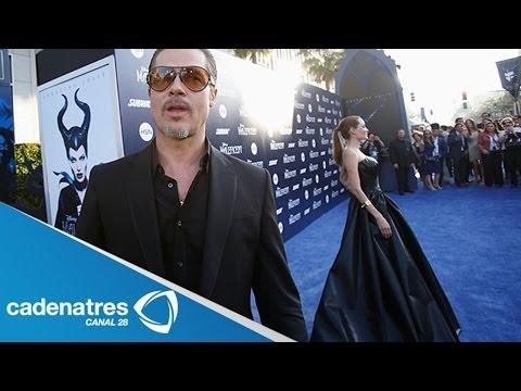 Brad Pitt golpeado por periodista durante el estreno de Maléfica