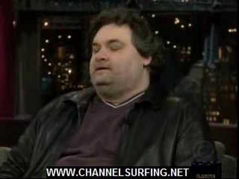 Artie Lange David Letterman www.channelsurfing.net 2-1-08