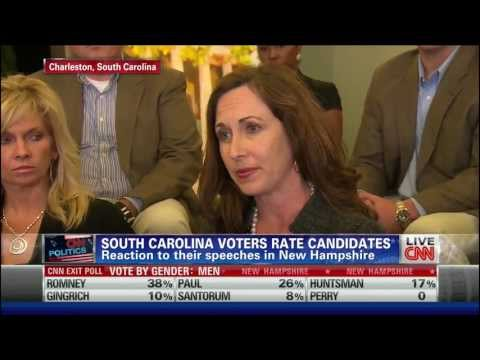 Blatant CNN Media Bias New Hampshire Debate Focus Group 1/10/2012