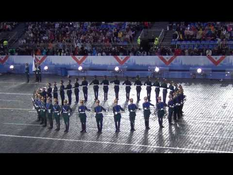 Рота специального караула Президентского полка . Спасская башня 2013.