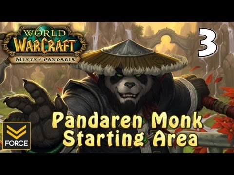 Mists of Pandaria: Pandaren Monk Starting Area Gameplay #3 (World of Warcraft)