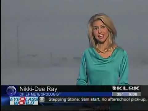 Klbk chief meteorologist nikki dee ray february 25 2013 west texas