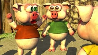 Three Little Piggies (HD) - The Farm Songs for Kids, Children
