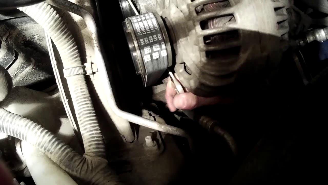 Замена ремня генератора на кашкай своими руками 630