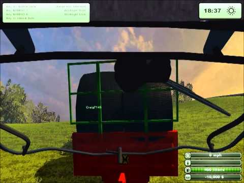 Farming Simulator 2013 Bale Stacking.