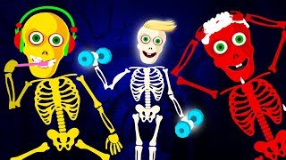 Midnight Routine : This Is The Way We Brush Our Teeth | Night Time Baby Songs With Funny Skeletons
