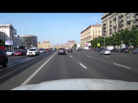 Moscow Streets Kutuzovsky Prospect Kremlin SUMMER in 4K