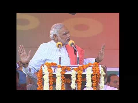 Shri Narendra Modi addressing Vijay Shankhnad Rally in Agra, Uttar Pradesh HD