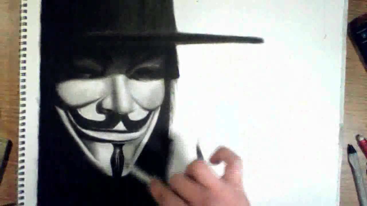 V For Vendetta Mask Drawing Drawing V and Evey