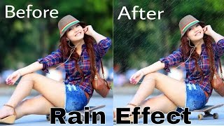 How to create Rain Effect with PicsArt (S4)
