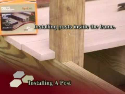 Butt Joining 45 Degree Rail Post And Replacing A Deck
