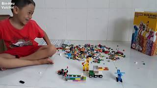 Lắp ráp xe tăng máy bay-ghe tàu xe đua-đồ chơi lắp ráp lego
