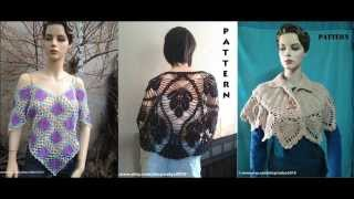Shawl, Capelet and Blouse Crochet Pattern NEW COLLECTION