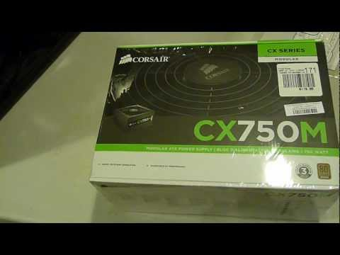 Corsair CX750M (750 W) PSU Unboxing and Review