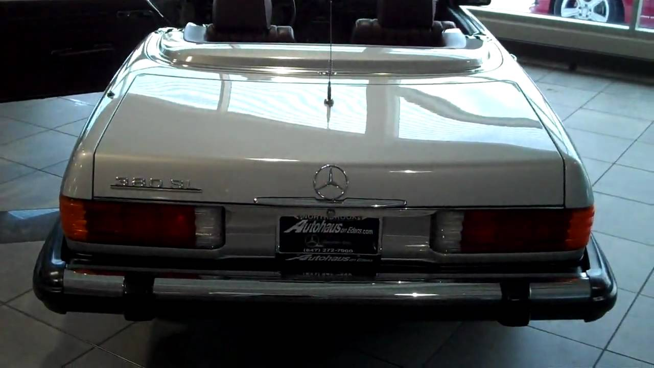 1985 mercedes benz 380 sl youtube for Autohaus on edens mercedes benz