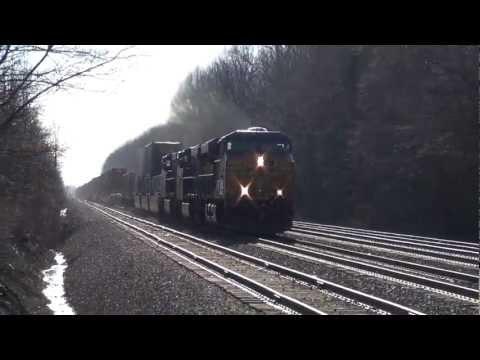 Fast Moving CSX Train