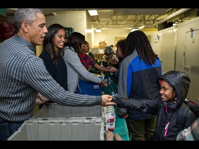 The First Family Participates in a Service Project