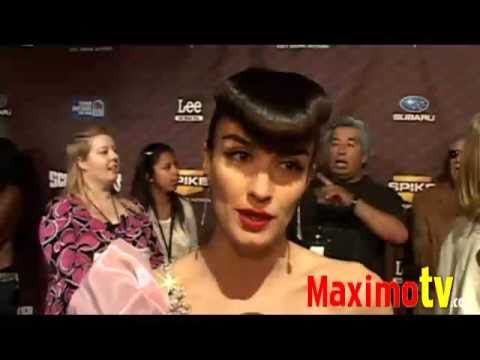 PAZ VEGA Interview at SCREAM AWARDS 2008 Arrivals