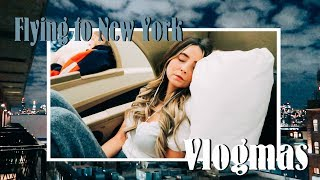 Flying to New York | VLOGMAS