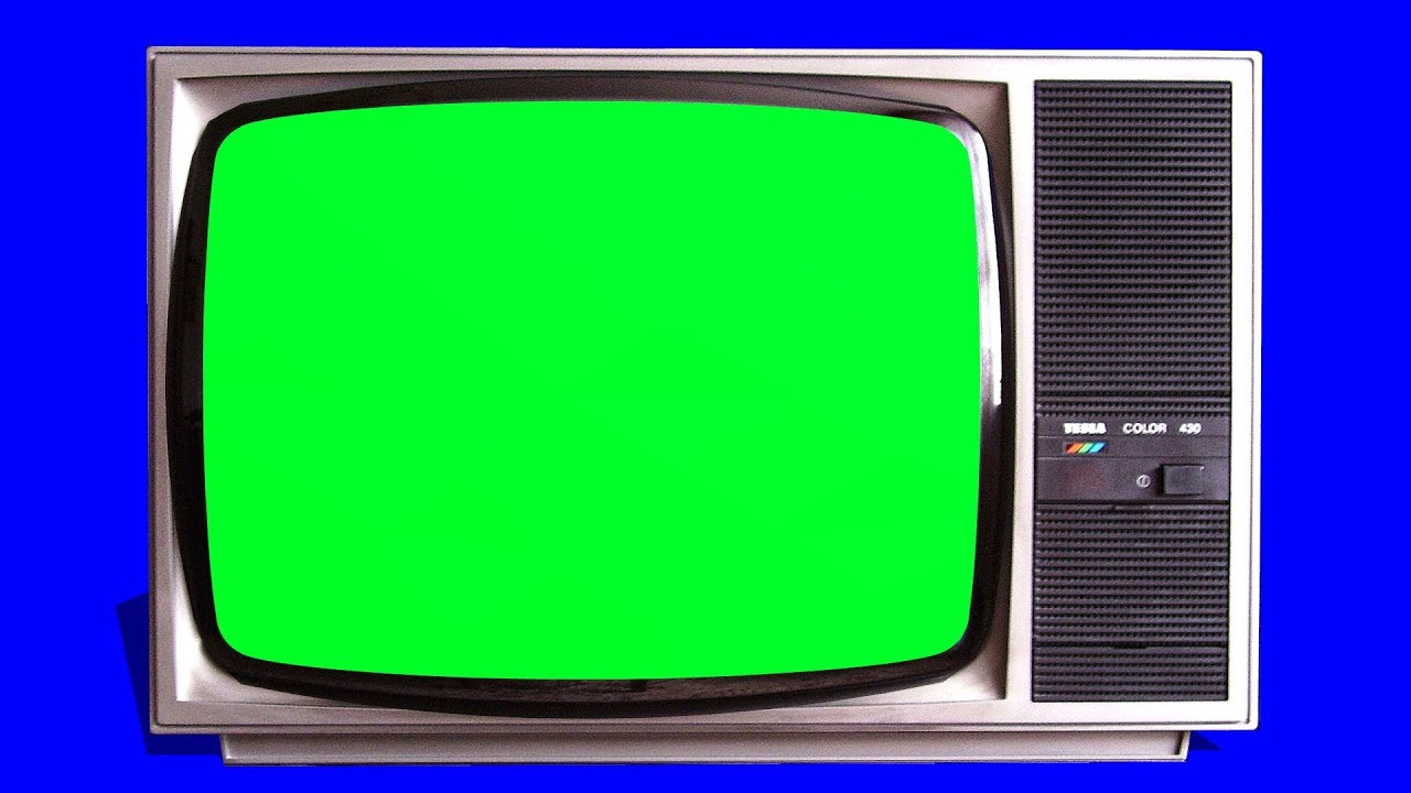 Old Tv Vintage Televison Green Screen Tracking Shot And