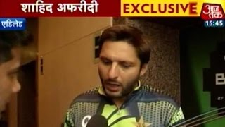 Pakistan's Shahid Afridi talks about opening match with India at WC 2015