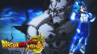 Dragon(☆)Ball Sprite Fight: Vegeta vs Omega Shenron (Beam Struggle)