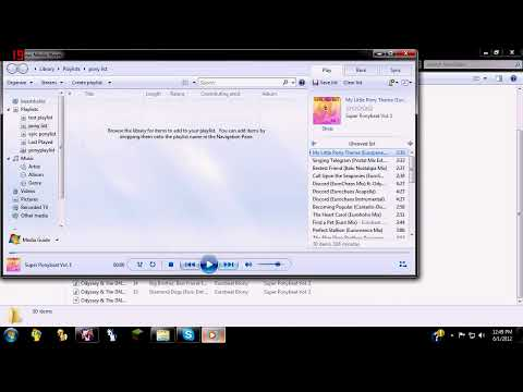 how to make a playlist in media player