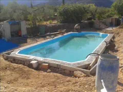 Instalacion piscina prefabricada modelo acapulco youtube for Piscinas prefabricadas