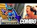 CRAZY COMBO! (Minecraft Skywars 1v1v1v1) SPECIAL EDITION