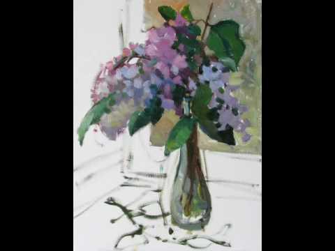 Рисуем сирень маслом жукова юлия lilac