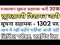 राजस्थान 1302 सूचना सहायक भर्ती 2018 | RSMSSB suchna sahayak informatics assistant recruitment 2018 MP3